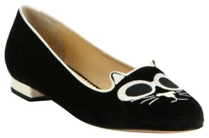 Charlotte Olympia black and white Flats