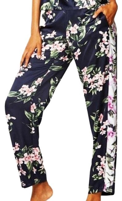 Item - Blue New The Afterhours Floral Satin Pajama Small Pants Size 4 (S, 27)