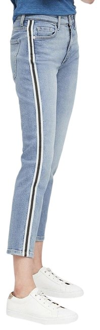 Item - Blue Medium Wash Mid-rise Side-stripe Ankle Straight Leg Jeans Size 27 (4, S)