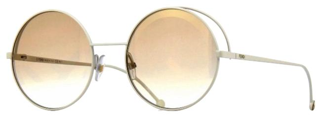 Item - White Brown rama Round Sunglasses