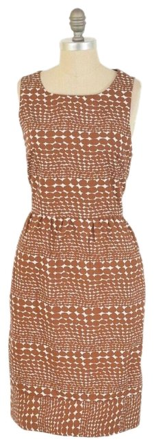 Item - Brown Open Back Short Casual Dress Size 12 (L)