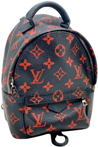 Item - Palm Springs Infrarouge Mini Black/Red Coated Canvas Backpack