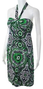 Shoshanna short dress Green Multicolored Floral Print on Tradesy