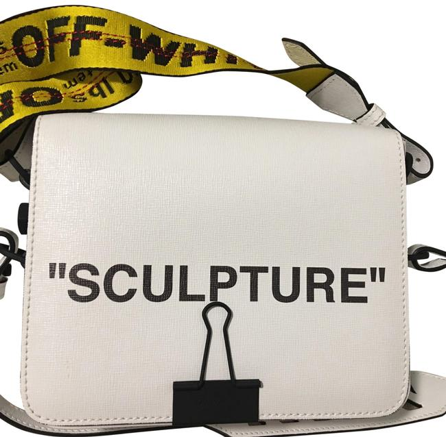 Off-White™ White Leather Cross Body Bag Off-White™ White Leather Cross Body Bag Image 1