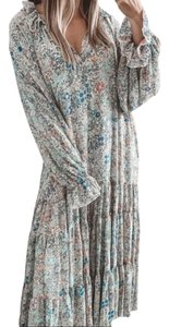 Blue Yellow Maxi Dress by Free People