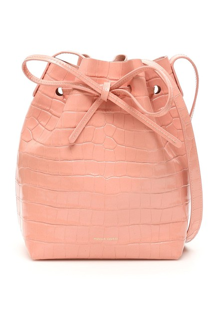 Mansur Gavriel Bucket Sn Mini Pink Leather Shoulder Bag Mansur Gavriel Bucket Sn Mini Pink Leather Shoulder Bag Image 1
