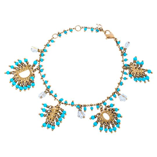 Preload https://img-static.tradesy.com/item/27896698/dior-blue-turquoise-crystal-logo-beaded-bracelet-0-0-540-540.jpg