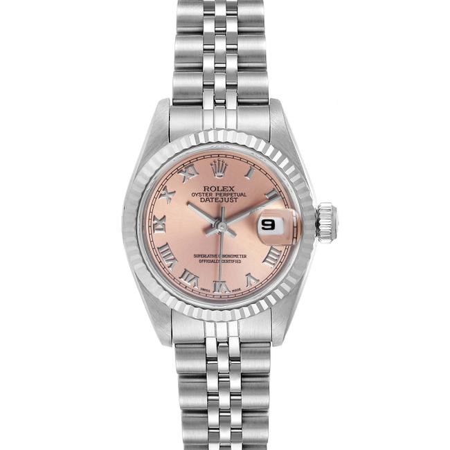 Rolex Salmon Box Datejust Steel White Dial Ladies 69174 Watch Rolex Salmon Box Datejust Steel White Dial Ladies 69174 Watch Image 1