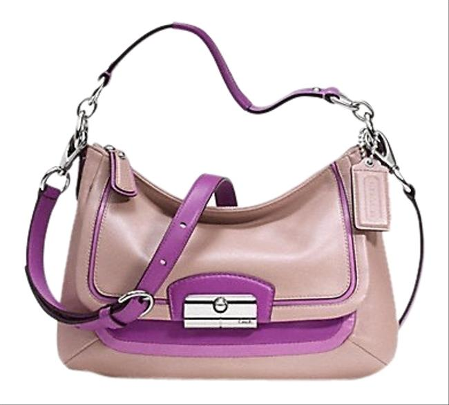 Coach Kristin Spectator Mauve/ Purple Leather Cross Body Bag Coach Kristin Spectator Mauve/ Purple Leather Cross Body Bag Image 1
