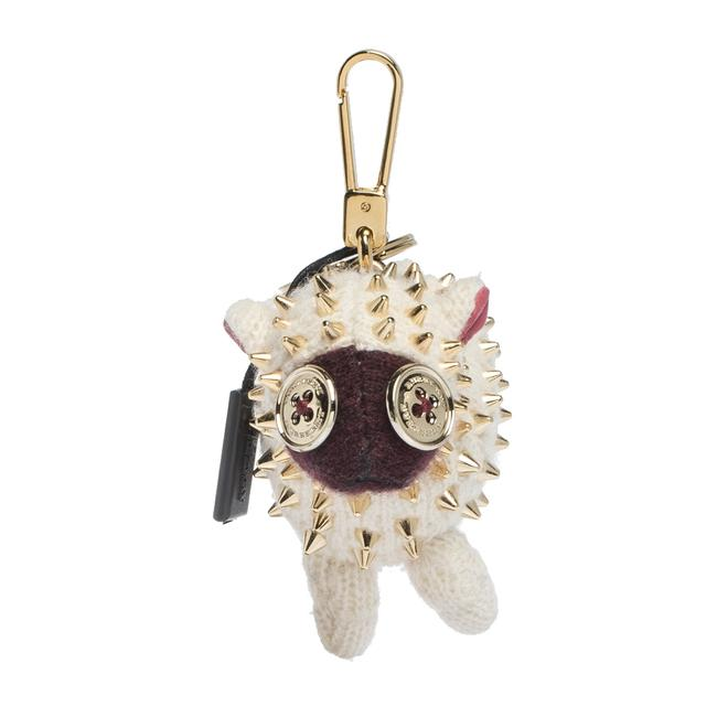 Burberry Cream Cashmere Studded Wendy Sheep Key Ring / Bag Charm Burberry Cream Cashmere Studded Wendy Sheep Key Ring / Bag Charm Image 1