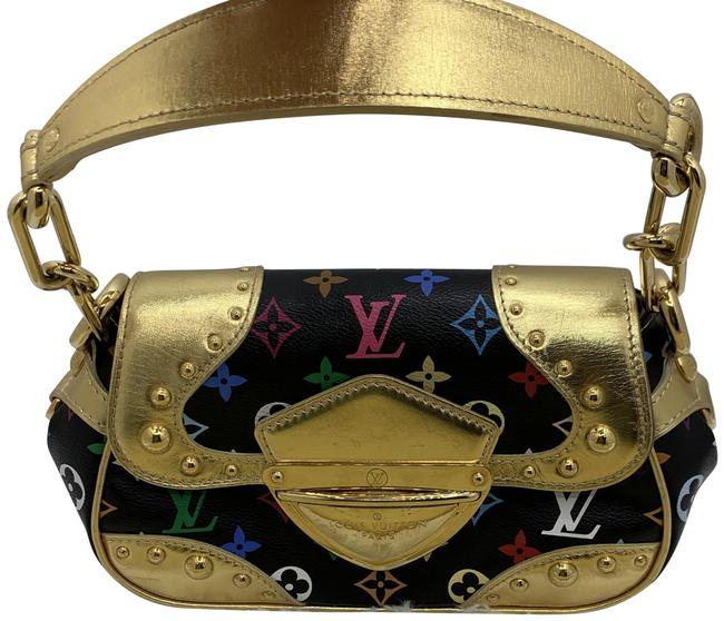 Louis Vuitton Marilyn In Black/Gold Multicolor Monogram Canvas Wristlet Louis Vuitton Marilyn In Black/Gold Multicolor Monogram Canvas Wristlet Image 1
