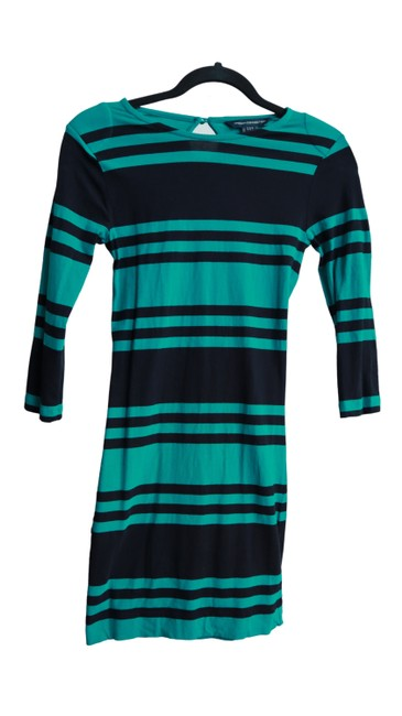 Preload https://img-static.tradesy.com/item/27896757/french-connection-teal-and-navy-stripe-mini-stretch-knit-34-sleeves-mid-length-workoffice-dress-size-0-0-650-650.jpg