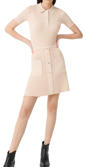 Preload https://img-static.tradesy.com/item/27896761/maje-beige-ribbed-two-piece-shirt-and-skirt-workoffice-dress-size-2-xs-0-1-650-650.jpg