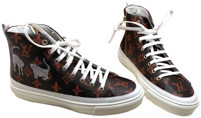 Louis Vuitton Red/Brown Catogram Sneakers Size EU 39.5 (Approx. US 9.5) Regular (M, B) Louis Vuitton Red/Brown Catogram Sneakers Size EU 39.5 (Approx. US 9.5) Regular (M, B) Image 1