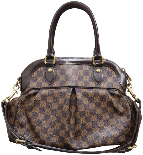 Louis Vuitton Trevi Pm Brown Damier Ébène Canvas Satchel Louis Vuitton Trevi Pm Brown Damier Ébène Canvas Satchel Image 1
