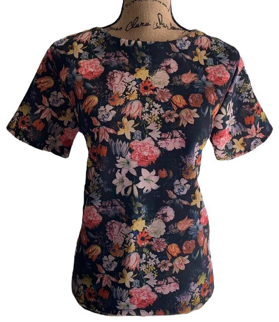 Preload https://img-static.tradesy.com/item/27896879/custom-made-allover-multi-floral-print-womens-large-knit-stretch-blouse-size-14-l-0-1-650-650.jpg