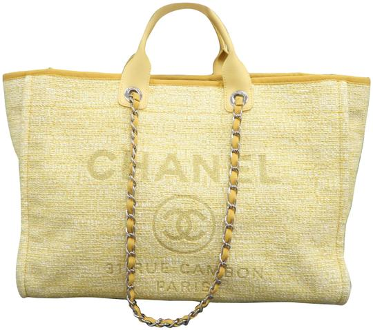 Preload https://img-static.tradesy.com/item/27896885/chanel-deauville-large-shopping-yellow-canvas-shoulder-bag-0-1-540-540.jpg