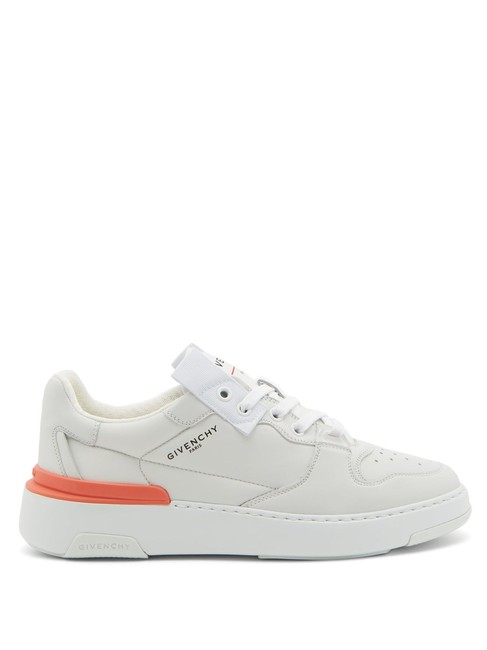Givenchy White Mf Wing Grained-leather Trainers Sneakers Size EU 38.5 (Approx. US 8.5) Regular (M, B) Givenchy White Mf Wing Grained-leather Trainers Sneakers Size EU 38.5 (Approx. US 8.5) Regular (M, B) Image 1