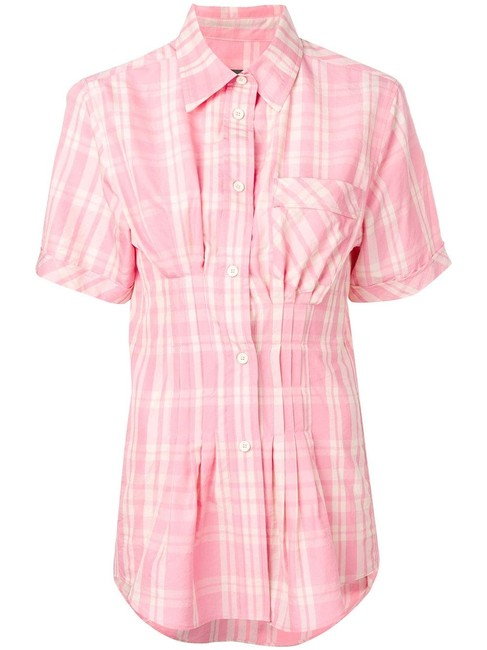 Preload https://img-static.tradesy.com/item/27896961/isabel-marant-pink-emily-corseted-gathered-plaid-blouse-button-down-top-size-4-s-0-0-650-650.jpg