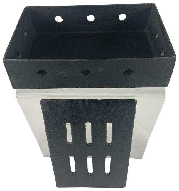 Black Smoker Box Briquette Rack Charcoal Grills Black Smoker Box Briquette Rack Charcoal Grills Image 1