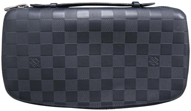 Louis Vuitton Zippy Black Damier Graphite Canvas Clutch Louis Vuitton Zippy Black Damier Graphite Canvas Clutch Image 1
