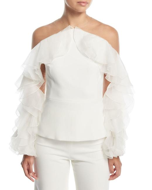 Preload https://img-static.tradesy.com/item/27897083/marchesa-white-off-shoulder-organza-ruffled-sleeve-blouse-size-12-l-0-0-650-650.jpg