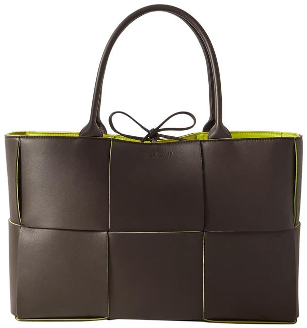 Bottega Veneta Cabas Small Intrecciato Brown Leather Tote Bottega Veneta Cabas Small Intrecciato Brown Leather Tote Image 1