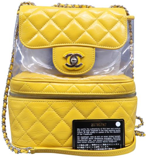 Preload https://img-static.tradesy.com/item/27897171/chanel-rare-mint-glazed-yellow-leather-and-pvc-backpack-0-1-540-540.jpg