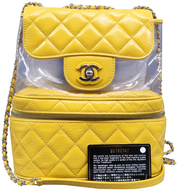 Chanel Rare Mint Glazed Yellow Leather and Pvc Backpack Chanel Rare Mint Glazed Yellow Leather and Pvc Backpack Image 1