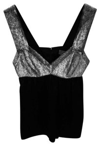 Proenza Schouler Top Black Silk Bottom; Black/Silver Beading