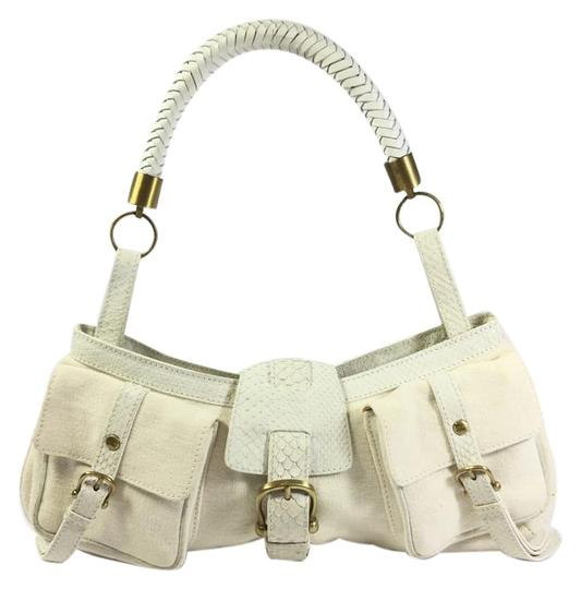 Preload https://item1.tradesy.com/images/burberry-canvas-leather-white-canvas-leather-snakeskin-shoulder-bag-2789725-0-2.jpg?width=440&height=440