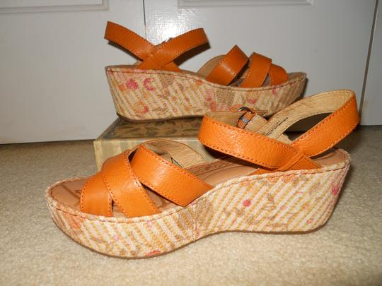 Brn Leather Mbc tan Platforms