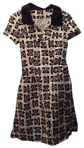 Bea and Dot - Modcloth short dress Black and white Vintage Phone Print Pockets Cotton on Tradesy