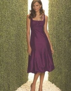Dessy Purple Taffeta 2060 Formal Bridesmaid/Mob Dress Size 4 (S)