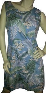 Aloha Republic short dress Green, white, gray, brown on blue on Tradesy