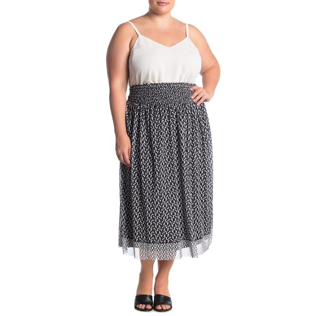 Item - Black and White Floral Print Mesh Skirt Size 6 (S, 28)