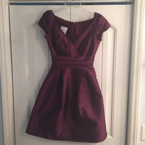 Alfred Sung Italian Plum D502 Casual Bridesmaid/Mob Dress Size 6 (S)