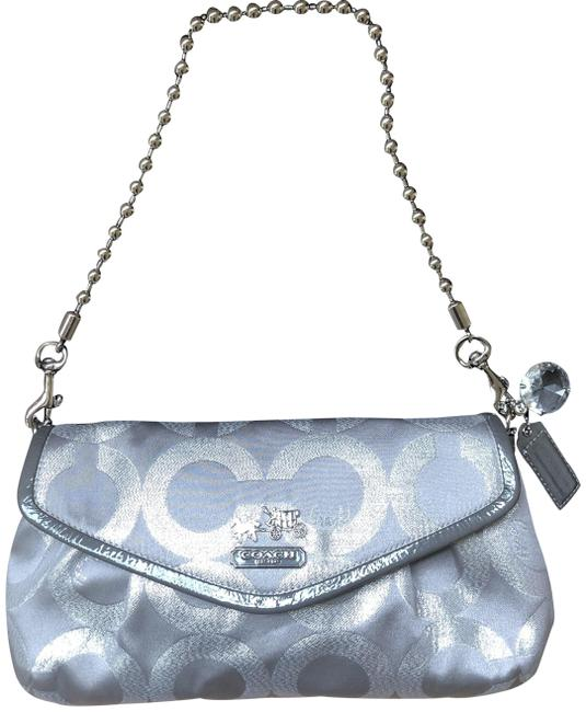 Item - Poppy Signature Clutch/Shoulder Silver and Grey Lurex Patent Leather Clutch