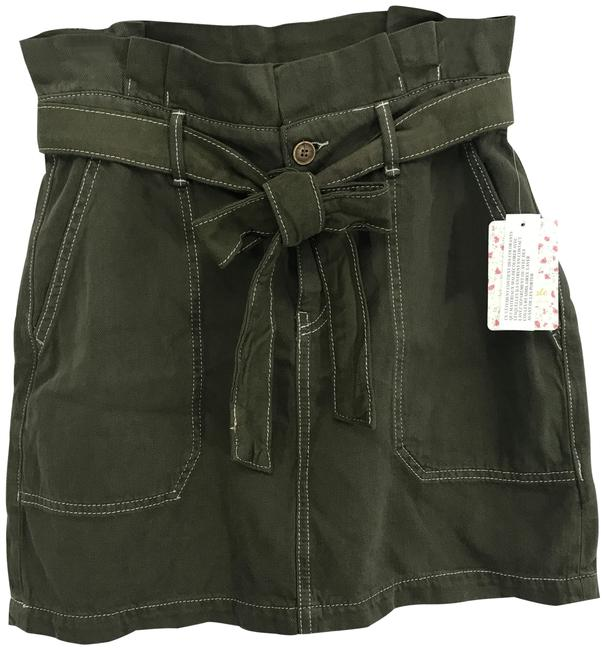 Item - Army Green Paperbag Skirt Size 8 (M, 29, 30)