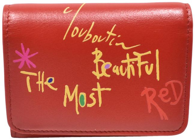 """Item - Red Loubigaga Mini """"The Most Red"""" Leather Wallet"""
