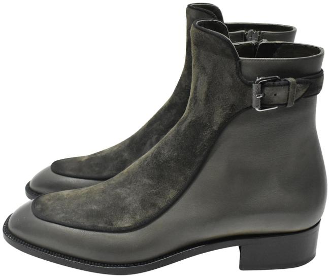 Item - Army Green Leather Suede Ecritoir Ankle Boots/Booties Size EU 40 (Approx. US 10) Regular (M, B)