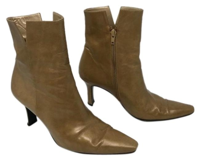 Item - Cream Tan Gold Pointed Boots/Booties Size US 7.5 Regular (M, B)