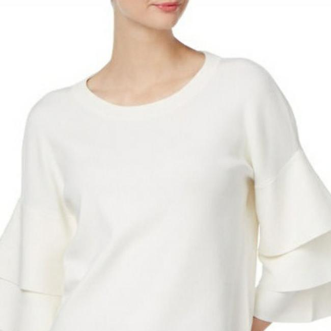 Item - Tiered Sleeve White Sweater