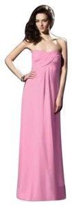 Dessy Pink Chiffon 2804 Formal Bridesmaid/Mob Dress Size 22 (Plus 2x)