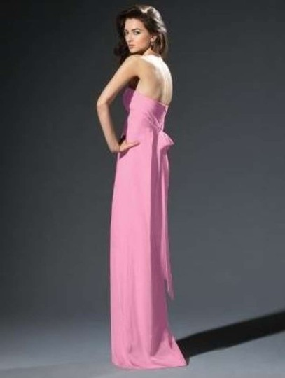 Dessy Pink Chiffon 2804 Formal Dress Size 22 (Plus 2x)