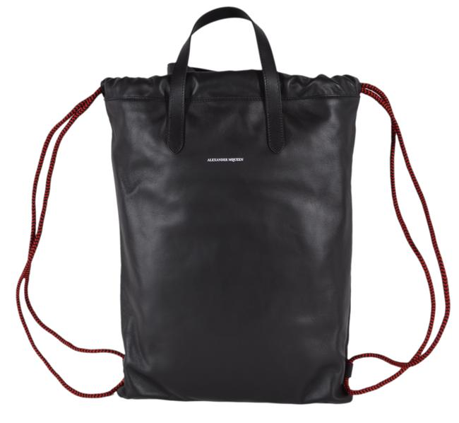Item - Tote Bag Large Purse Black Leather Backpack