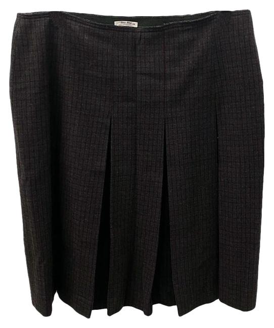 Item - Gray & Burgundy Pleated Skirt Size 8 (M, 29, 30)