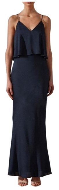 Item - Blue Layered Maxi Slip Long Formal Dress Size 4 (S)