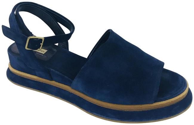 Item - Navy Suede Ankle Strap Wedges Sandals Size EU 41 (Approx. US 11) Regular (M, B)