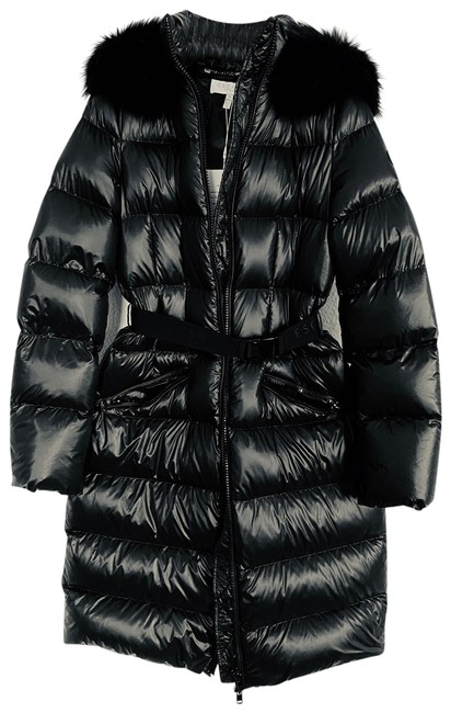Item - Black Down Puffer Long Belted In Coat Size 4 (S)